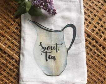 Farmhouse  Tea Towel     Sweet Tea Flour Sack
