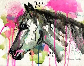 Emerging - original horse painting
