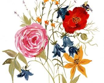 Print Spring Floral - Digital Download- Printable Art