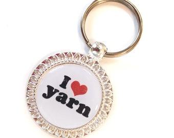 I Heart Yarn Keychain