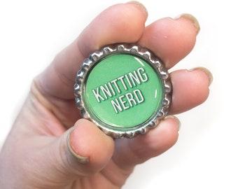 Knitting Nerd Lapel Pin