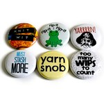 Knitting Pins with Funny Knitting Sayings - Fun Present for Knitters - Small Knitting Gift Under 10 Dollars - Thank You Present for Knitter