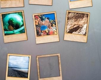 Polaroid Picture Frames - Magnet - Kitchen magnet - Photo Frame - Fun Magnet - Vintage - Polaroid Frame - Polaroid Magnet - Wood Magnet