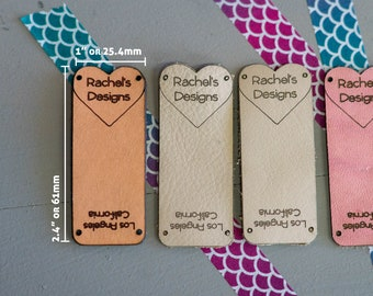 Knitting Tags - Hem Tags - Crochet Tags - Sewing Tags - Leather tags - Garment Tags - Product Tags - Knitting Labels - Product Labels