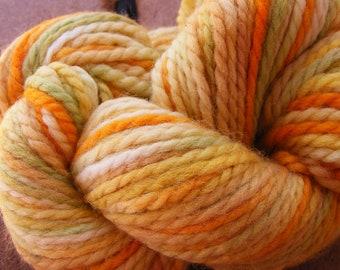 LEMON LEAF Handpainted Wool Yarn Aran Weight 90yds 2.5oz Hand Painted  Aspen Moon Arts