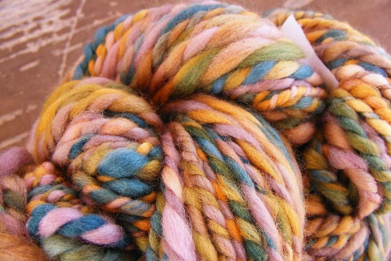 GARDEN MAZE Handspun Wool Yarn Merino 2ply 82yds 3.7oz Bulky aspenmoonarts knitting artyarn