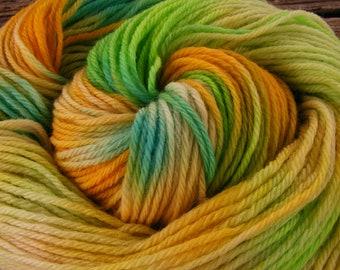 SUNLIT SKY Handpainted Yarn Wool 210yds 3.8oz Worsted Weight Merino Knitting Aspenmoonarts Hand Painted