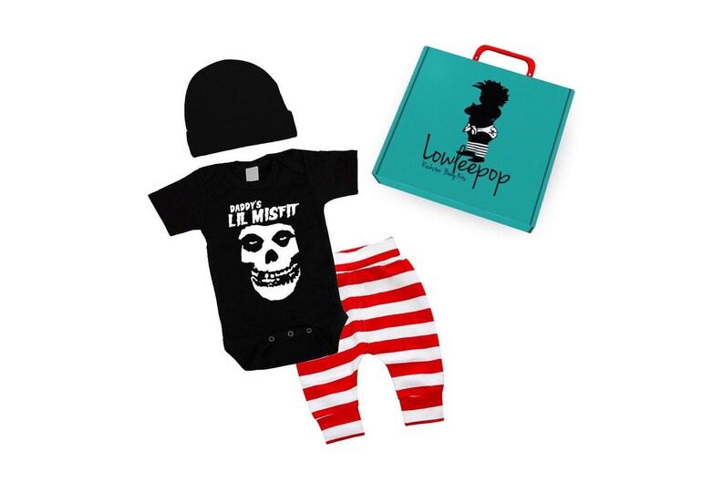 ROCKSTAR BABY KIT Daddys Lil Misfit Pants Set & optional gift image 0