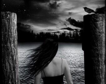 Fantasy Dark Art Print Lingering Hope