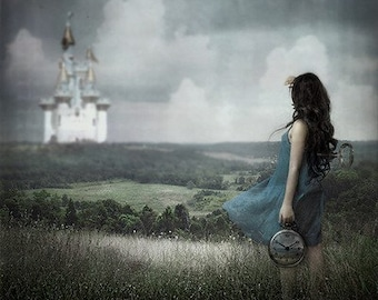 Fantasy Surreal Fairy Tale Art Print Searching for Fairy Tales