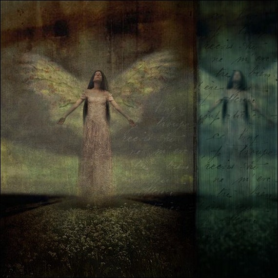 Angel Fantasy Art Print Notions of Heaven 5x5 inch Print