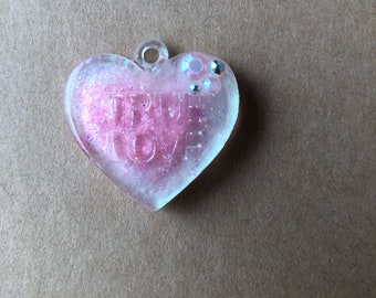 Secret Conversation Heart Necklace or Bracelet Charm