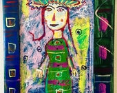 Woman with Electric Hat...