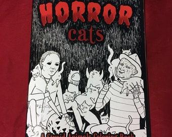 Horror Cats Coloring Book