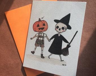 Spooky Buddies - Halloween Greeting Card