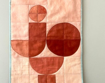J O Y Hand Dyed Linen Mini Quilt
