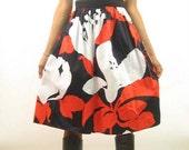 Vintage Bold Print Lit Cotton Skirt