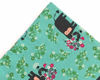 Black Cats & Elephants Organic Nip Mat Toy By For Mew, Refillable, Washable, Cat Bed, Cat Furniture, Gift For Cat Lovers, Neko
