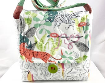 Tiger And Friends Cat Lady Wee Bag By For Mew Cat Lover Purse, Gift For Cat Lover, Big Cat Lover