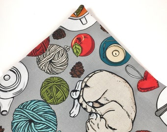 Sleepy Kitty Organic Nip Mat Toy By For Mew, Refillable, Washable, Cat Bed, Cat Furniture, Gift For Cat Lovers