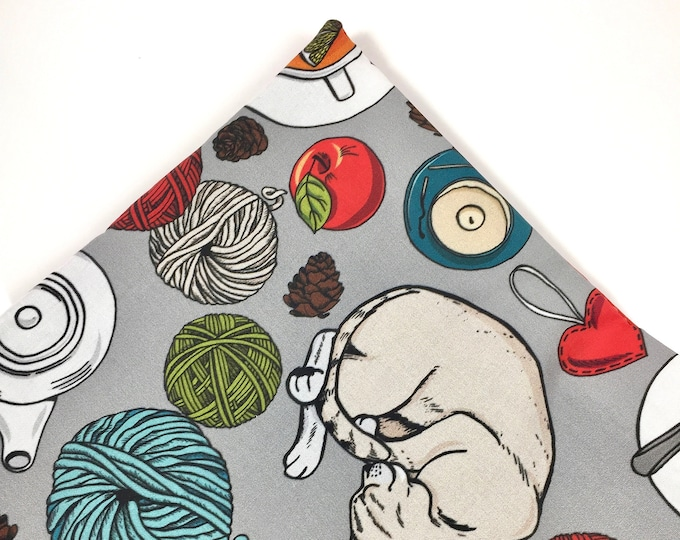 Featured listing image: Sleepy Kitty Organic Nip Mat Toy By For Mew, Refillable, Washable, Cat Bed, Cat Furniture, Gift For Cat Lovers