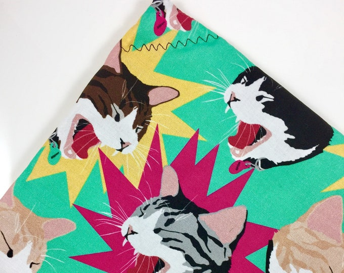 Featured listing image: Yawning Cats Organic Nip Mat Toy By For Mew, Refillable, Washable, Cat Bed, Cat Furniture, Gift For Cat Lovers