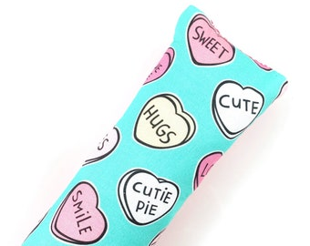 Conversation Candy Hearts Valentines Kick-It Crinkle Organic Catnip Cat Toy For Mew, Kicker, Gift For Cat Lover, Kicker