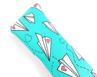 Paper Airplane Valentines Kick-It Crinkle Organic Catnip Cat Toy For Mew, Kicker, Gift For Cat Lover, Kicker