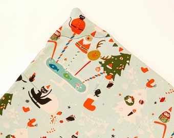 Santa Claws Catmas Christmas Organic Catnip Mat Toy By For Mew, Refillable, Washable, Cat Bed