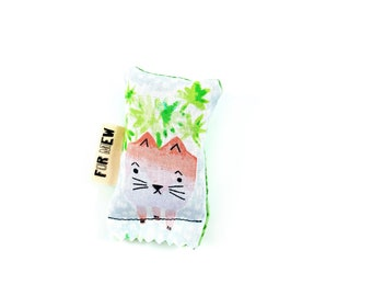Kitty Planter Green Bean Organic Catnip Eco Friendly Cat Toy For Mew, Gift For Cat Lover
