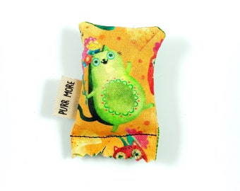 Avocato Avocado Cat Green Bean Organic Silver Vine Catnip Blend Eco Friendly Cat Toy For Mew, Gift For Cat Lover