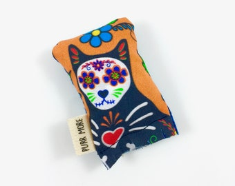 Day Of The Dead Cat Green Bean Organic Eco Friendly Catnip Cat Toy For Mew, Gift For Cat Lover