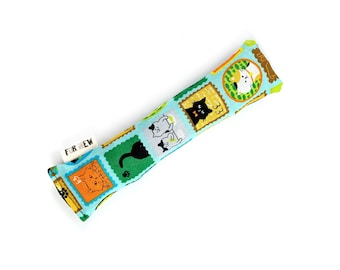 Cat Stamps Crisp Organic Silver Vine Catnip Blend Crinkle Kicker Cat Toy by For Mew