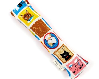 Cat Stamps Crisp Organic Catnip Crinkle Kicker Cat Toy by For Mew