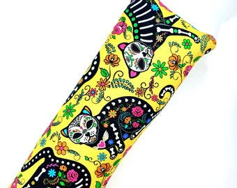 Day Of The Dead Cats Kick-It Crinkle Organic Silver Vine Catnip Blend Cat Toy For Mew, Kicker, Gift For Cat Lover, Kicker