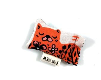 Orange Cat Green Bean Organic Silver Vine Catnip Blend Eco Friendly Cat Toy For Mew, Gift For Cat Lover