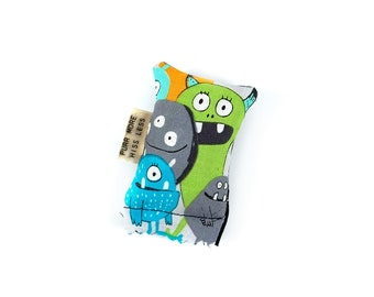 Monsters Green Bean Organic Catnip Eco Friendly Cat Toy For Mew, Gift For Cat Lover