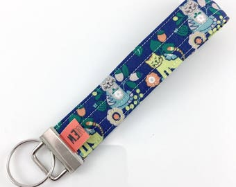 Garden Cats Key Fob For Mew Cat Lover Key Chain, Gift For Cat Lover