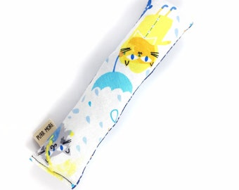 Cats And Umbrellas Crisp Organic Catnip Crinkle Kicker Cat Toy by For Mew, Cat Lover, Cat Lady, Cat Gift