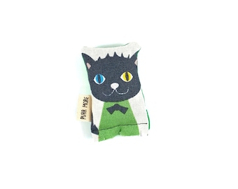 Kitty In A Sweater Green Bean Organic Catnip Eco Friendly Cat Toy For Mew, Gift For Cat Lover