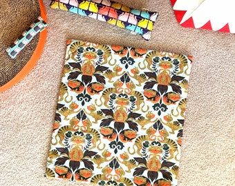 Autumn Cats Organic Nip Mat Toy By For Mew, Refillable, Washable, Cat Bed, Cat Furniture, Gift For Cat Lovers