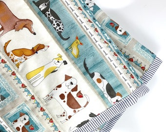 Doggies Quilt Blanket For Mew, Dog Bedding, Dog Lover Gift