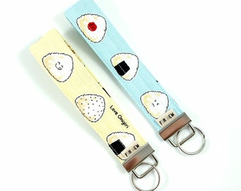 Onigiri Rice Ball Key Fob For Mew
