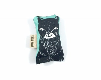 Black Cat Green Bean Organic Eco Friendly Catnip Cat Toy For Mew, Gift For Cat Lover