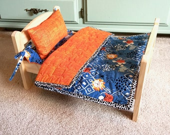 Jungle Cats Quilt And Mattress Set By For Mew, Ikea Cat Doll Bed Bedding, Cat Lover
