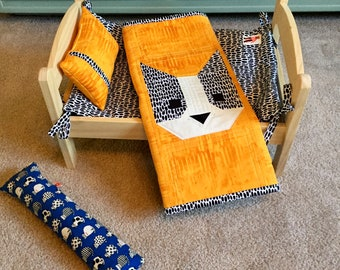 Wild Cat  Yellow Quilt And Mattress Set By For Mew, Ikea Cat Doll Bed Bedding, Cat Lover