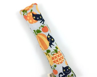 Black Cats And Pumpkins Crisp Organic Catnip Crinkle Kicker Cat Toy by For Mew, Cat Lover, Cat Lady, Cat Gift