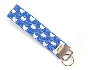 White Cats Key Fob For Mew