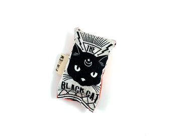 Black Cat Glow In The Dark Green Bean Organic Eco Friendly Silver Vine Catnip Blend Cat Toy For Mew, Gift For Cat Lover