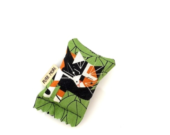 Sleepy Calico Cat Green Bean Organic Silver Vine Catnip Blend Eco Friendly Cat Toy For Mew, Gift For Cat Lover